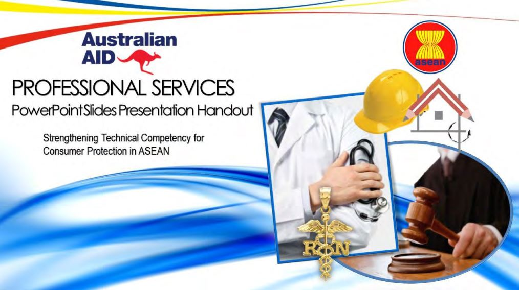 ASEAN Training Manuals on Professional Services