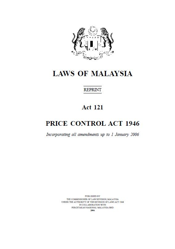 Act 121 - Price Control Act 1946